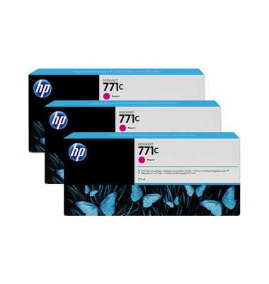 Druckerpatrone 771C magenta 3 x 775ml