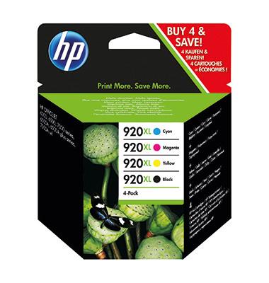 Druckerpatrone 920XL sw/c/m/y 1200/700 Seiten 4er Pack