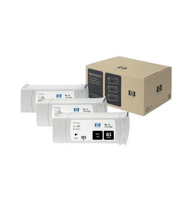 Druckerpatrone 83  UV schwarz 680ml 3er Pack