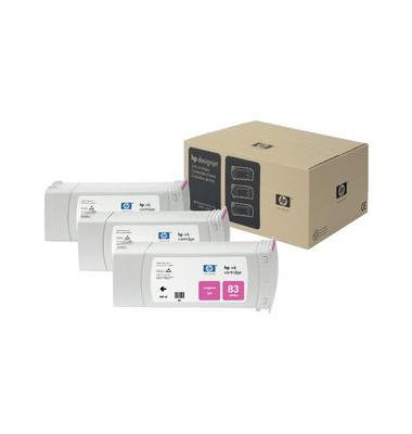 Druckerpatrone 83  UV magenta 680ml 3er Pack