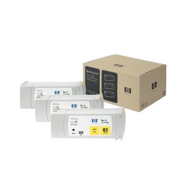 Druckerpatrone 83  UV gelb 680ml 3er Pack