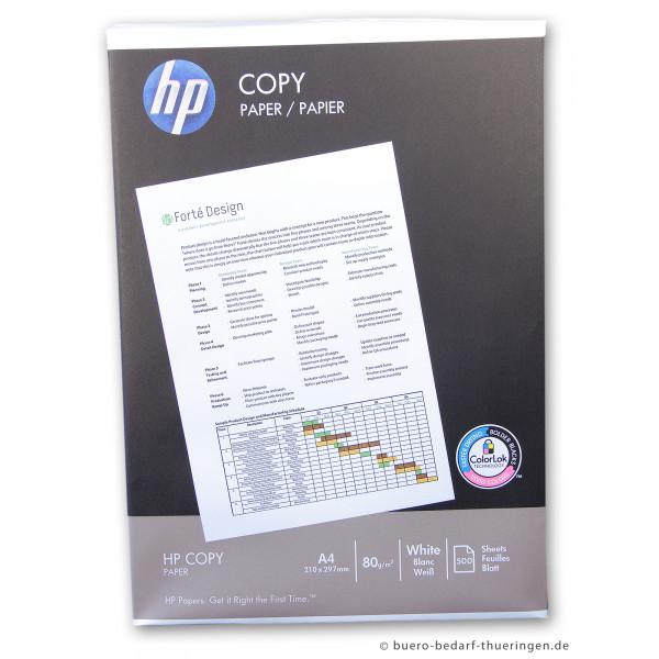 Heftstreifen für 500 blatt  HP Copy C910 A4 80g Kopierpapier weiß 500 Blatt
