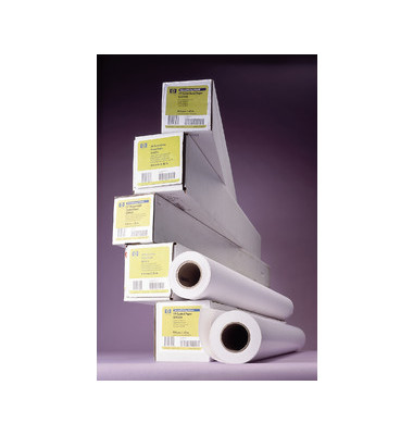Plotterinkjetpapier Universal 610mm x 45,7m 80g weiß opak matt 1 Rolle