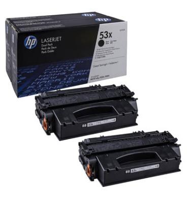Toner 53X schwarz ca 7000 Seiten Doppelpack