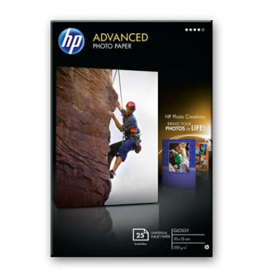 Inkjet-Fotopapier 10x15cm Q8691A Advanced einseitig hochglänzend 280g 25 Blatt