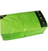 Servietten 33x33cm 1/4 Falz 3-lagig apfelgrün unifarbig