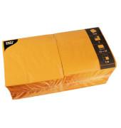 Serviette 3-lagig 33x33cm 1/4 Falz 3-lagig orange unifarbig