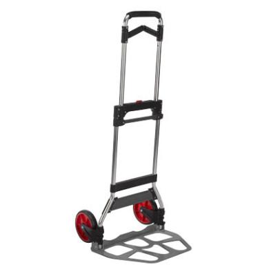 Klappkarre 8001040 tragfähig bis 120kg grau/schwarz 35x48,5cm Aluminium