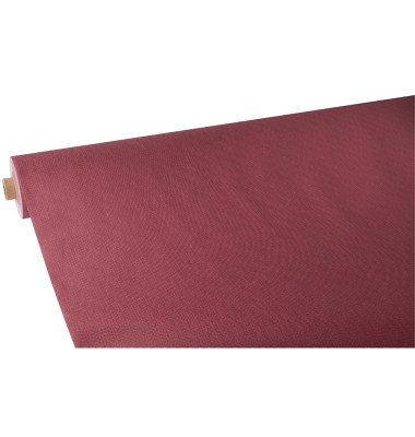 Tischdecke soft selection plus bordeaux 25x1,18m Rolle