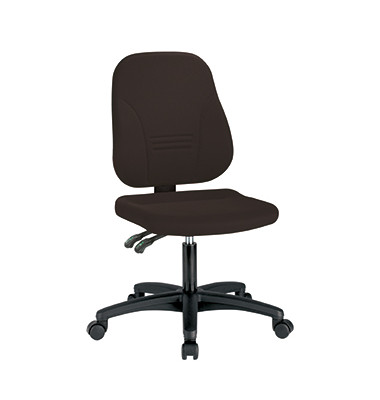Bürodrehstuhl 1101 Bezug TEC ohne Armlehnen schwarz