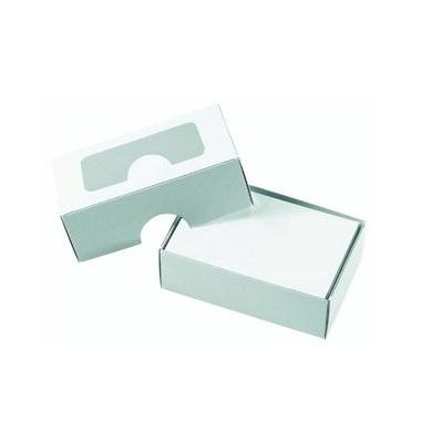 Visitenkarten-Box weiß 90x60x30mm 250St