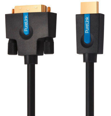 High Speed HDMI/DVI single Link Kabel, 1,5m, WUXGA FullHD vergoldet