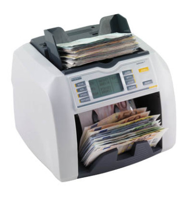 Banknotenzähler Rapidcount T 225 mit Wertzähler und UV-Prüfung