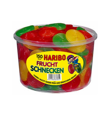 Fruchtgummi Fruchtschnecken PP Dose 150 St