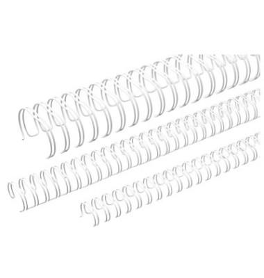 Binderücken Ring Wire 3:1 6,9mm für 45 Blatt weiß