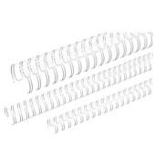 Drahtbinderücken Ring Wire 310950034 weiß 3:1 34 Ringe auf A4 75 Blatt 9,5mm 100 Stück