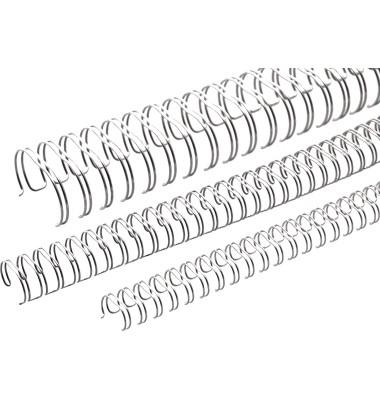 Binderücken Ring Wire 2:1 9,5 mm für 75 Blatt silber
