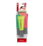 Textmarker Neon 4er Etui farbig sortiert 2-5mm Keilspitze