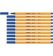 Tintenfeinschreib Point 88 10x d.blau 0,4 mm