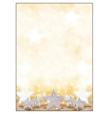 Weihnachtspapier Glitter Stars A4 100 Blatt DP029