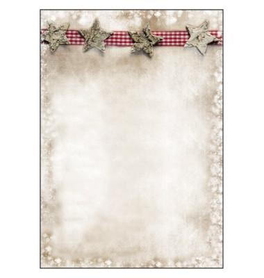 Weihnachtspapier Winter Chalet A4 25 Blatt DP052