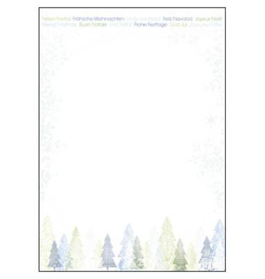Weihnachtspapier Trees A4 25 Blatt DP090