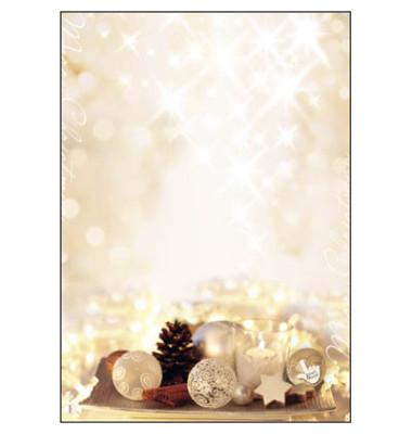 Weihnachtspapier Zimtsterne A4 25 Blatt DP926