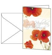 Motiv-Karten inkl. weiße Umschläge. Red Poppies, Glanzkarton.