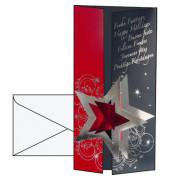 Weihnachtskarten Pleasure Din Lang 10 Stück inkl. weißen Umschlägen DS012