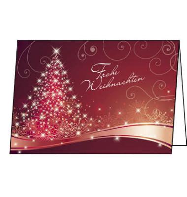 Weihnachtskarten Christmas Swing A6 25 Stück inkl. weißen Umschlägen DS019