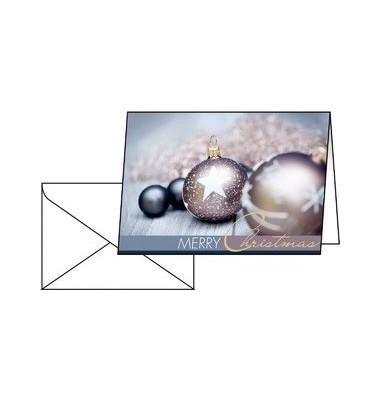 Weihnachtskarten Exquisite A6 25 Stück inkl. weißen Umschlägen DS024