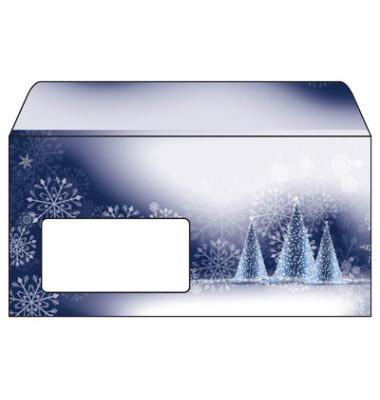 Weihnachtsumschlag Night Sky Din Lang 50 Stück mit Fenster DU042