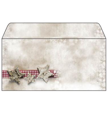 Weihnachtsumschlag Winter Chalet Din Lang 25 Stück ohne Fenster DU049
