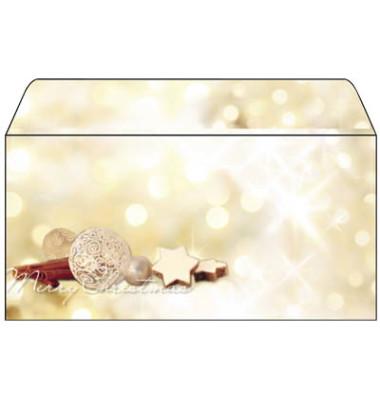 Weihnachtsumschlag Zimtsterne Din Lang 25 Stück ohne Fenster DU221