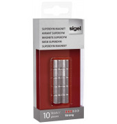 Magnet SuperDym C5 Strong silber 10x10mm 10 St
