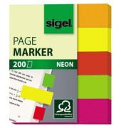 Index Haftstreifen neon 50x60mm 5 Farben im Pocket in orange, gelb,