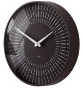 Design-Wanduhr artetempus® Modell: lox, black, geräuschloses