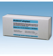Aluderm Pflasterstrips 2,5x7,2cm 100 St