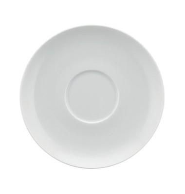 Untertasse Fine Dining Ø 15,8cm weiß Porzellan stapelbar 6 Stück