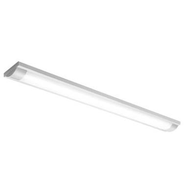 Deckenleuchte LED, 40-124, blendfreie Abdeckung, Metallgehäuse grau, 2x20W