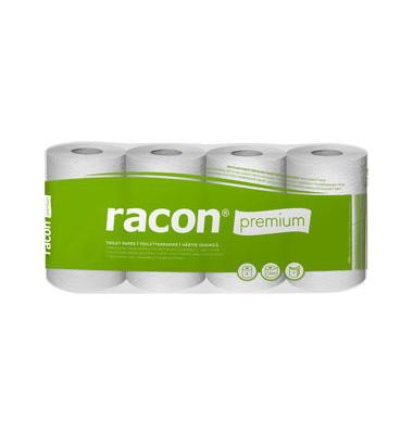 Toilettenpapier racon premium Recycling 091689 3-lagig weiß 56 Rollen