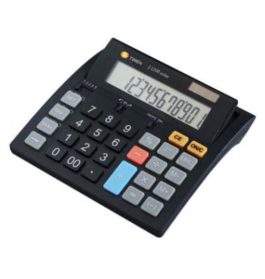 Tischrechner, anzeigend, 12-stellig J1200, Solar und Batterieb.