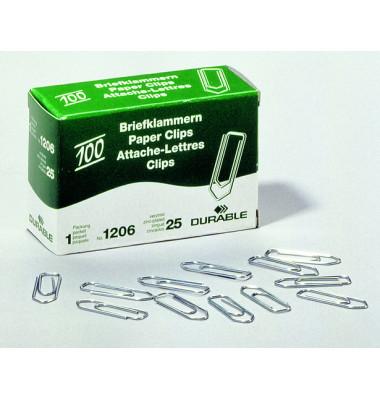 Büroklammern 1206-25, 26mm, Metall verzinkt silber, 100 Stück