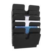 Prospektständer Flexiplus 6 Fächer A4 quer schwarz