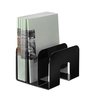 Katalogsammler 1701395060 Trend 215x210x165mm schwarz Polystyrol 3 Fächer à 65mm