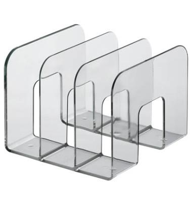 Katalogsammler 1701395400 Trend 215x210x165mm transparent Polystyrol 3 Fächer à 65mm