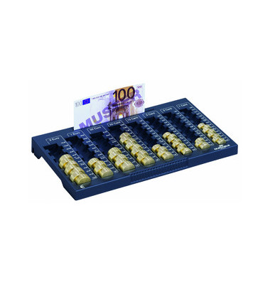 Zählbrett für Euromünzen/Banknoten anthrazit Euroboard L