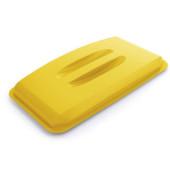 Deckel gelb mit Griffmulden für DURABIN 60 Liter
