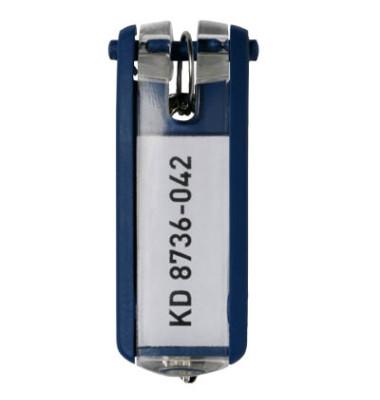 Schlüsselanhänger KeyClip dunkelblau 6 Stück