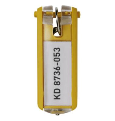 Schlüsselanhänger KeyClip gelb 6 Stück